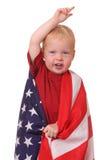 Criança com bandeira dos EUA Foto de Stock Royalty Free