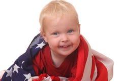 Criança com bandeira dos EUA Fotografia de Stock