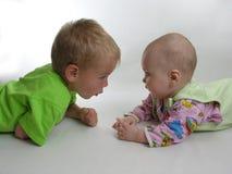 Criança com bebê Fotos de Stock