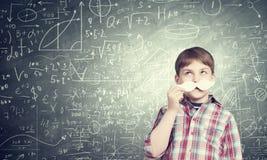 Criança com bigode Foto de Stock