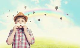 Criança com bigode Imagens de Stock Royalty Free