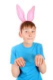 Criança com Bunny Ears foto de stock royalty free
