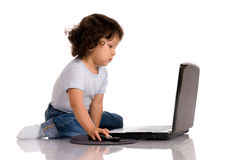 Criança com caderno Imagem de Stock