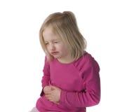 Criança com dor de estômago Fotos de Stock Royalty Free