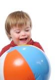 Criança com Down Syndrome Fotografia de Stock Royalty Free