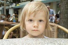 A criança com fome Imagens de Stock