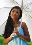 Criança com guarda-chuva Foto de Stock Royalty Free