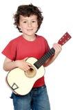 Criança com guitarra foto de stock royalty free