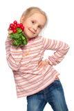 Criança com legume fresco fotos de stock