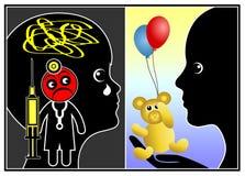 Criança com medo do doutor ilustração do vetor