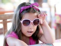 Criança com menu Fotos de Stock