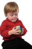 Criança com mundo Imagens de Stock