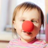 Criança com nariz vermelho Foto de Stock