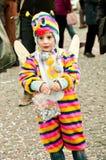 Criança com o fancydress em Praça del Popolo Foto de Stock
