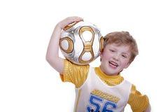 Criança com o futebol Imagem de Stock