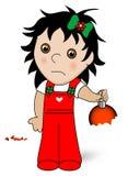 Criança com ornamento Imagens de Stock Royalty Free