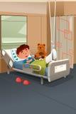 Criança com pé quebrado no hospital Imagem de Stock
