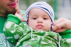 Criança com pai Fotos de Stock Royalty Free