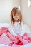 Criança com papel higiénico Imagem de Stock Royalty Free