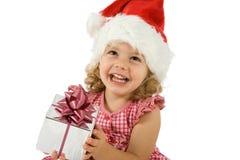 Criança com presente Imagem de Stock