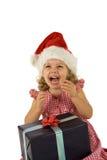 Criança com presente Fotografia de Stock Royalty Free
