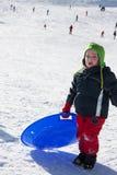 Criança com prumo Fotos de Stock Royalty Free
