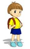 Criança com schoolbag ilustração stock