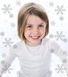 Criança com sorriso festivo Imagens de Stock Royalty Free