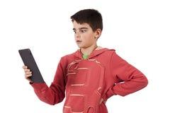 Criança com tabuleta imagens de stock royalty free