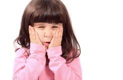 Criança com toothache Imagens de Stock