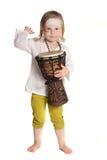 Criança com um cilindro fotografia de stock