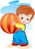A criança com uma esfera Imagens de Stock Royalty Free