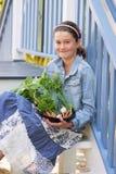 Criança com vegetais Imagem de Stock Royalty Free