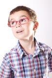 Criança com vidros Fotografia de Stock