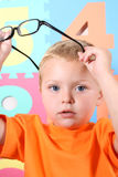 Criança com vidros Imagem de Stock Royalty Free