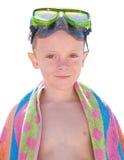 Criança com vidros de mergulho Imagens de Stock Royalty Free