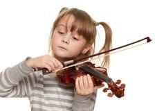 Criança com violino Imagens de Stock