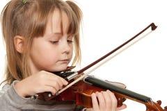 Criança com violino Imagem de Stock Royalty Free