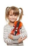 Criança com violino Fotografia de Stock