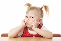 Criança confundida imagens de stock