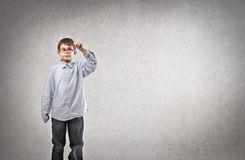 Criança da escrita Imagens de Stock