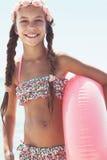 Criança da forma na praia Fotos de Stock Royalty Free