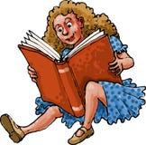 Criança da leitura do livro Fotografia de Stock Royalty Free