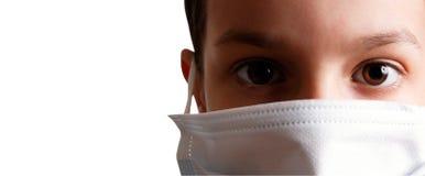 Criança da máscara da saúde Imagens de Stock Royalty Free