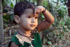 Criança da menina na Índia fotos de stock
