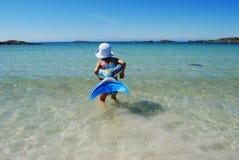 Criança da natação Fotografia de Stock Royalty Free