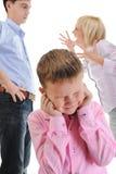Criança da parte dos pais. Fotografia de Stock
