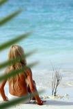 Criança da praia Fotos de Stock