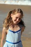 Criança da praia Fotos de Stock Royalty Free