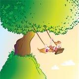 Criança de balanço Fotografia de Stock